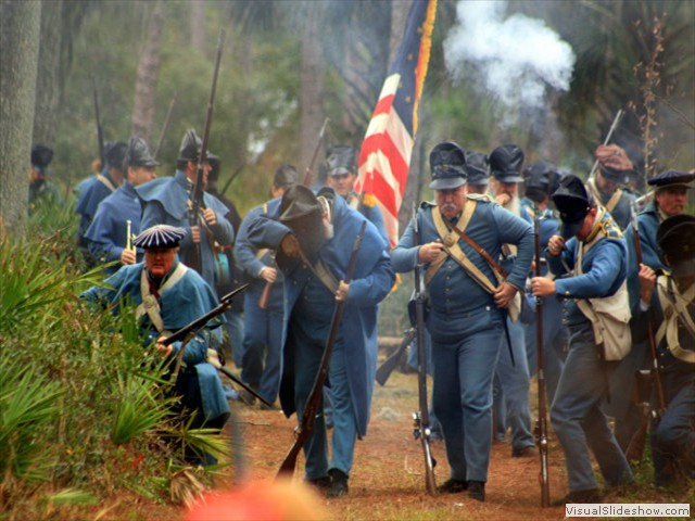 Reenactment of the 1835 Dade Massacre by the Seminoles Firing_at_will
